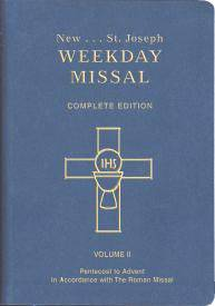ST. JOSEPH WEEKDAY MISSAL (Vol. II/Pentecost to Advent) missal, annual, church liturgy, 921/09