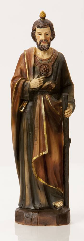 "8"" St. Jude Statue Heaven%27s Majesty®*WHILE SUPPLIES LAST* st. jude statue, patron of hopeless cases, heavens majesty, wood carved look statue, home decor, church decor, HL0613251B, SJTS, QUANTITY DISCOUNT, QTY DISCOUNT"