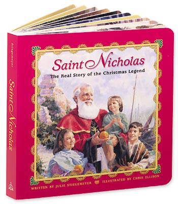 St. Nicholas Board Book christmas book, st. nick, santa claus, christmas gift, seasonal book, childrens book, board book, 56-2299