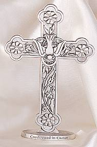 Standing Confirmation Dove Cross wall cross, wall crucifix, confirmation cross, holy spirit cross, confirmation gift, sacrametnal gift, RCIA gift. sponsor wall cross, sponsor gift