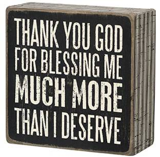 Thank God for Blessing Me Box Sign  box sign, box message holder, home decor, inspriational message, house gift, 21297, cmas15b
