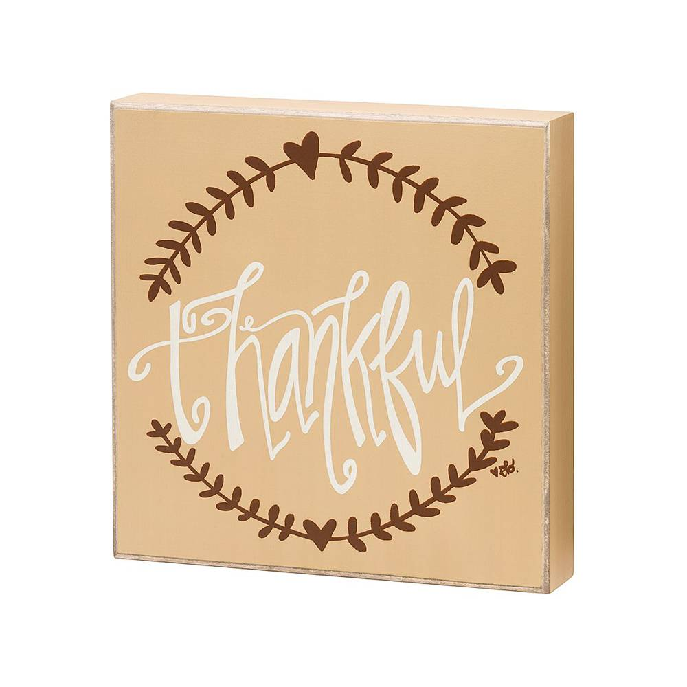 Thankful Box Sign  cmas15b, box sign, box message holder, home decor, inspriational message, house gift, EB-7206