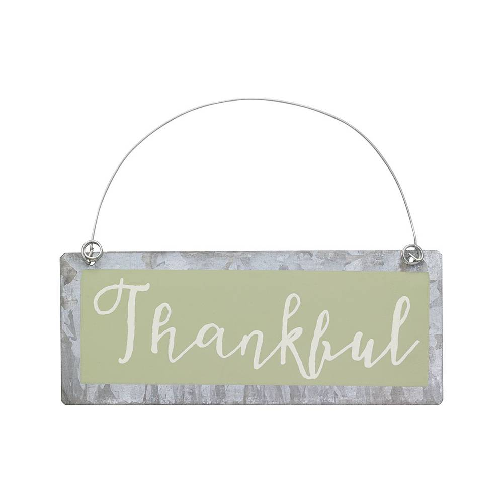 Thankful Tin Mini Sign cmas15b, home decor, mini sign, ornament, thankful, ps-4720, christmas decor, fall decor,