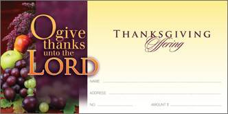 Thanksgiving Offering Envelope thanksgiving enevelope, church supplies, offering, seasonal, 2558