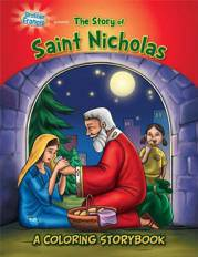The Story of St. Nicholas Coloring Book activity book, childs gift, childrens activity book, childs christmas gift, stocking stuffer, group gifts, group favors,CSB-NIC