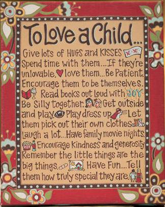 %27To Love A Child...%27 Table Top/ Wall  Canvas home decor, wall hanging, to love a child, shower gift, new baby gift, inspirational, plaque