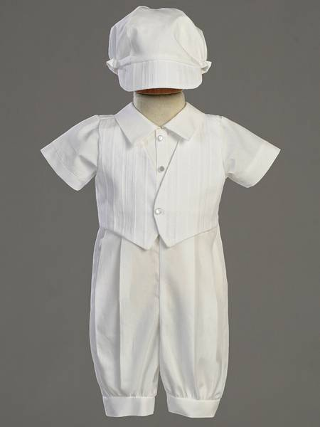 %27Tristan%27 Cotton Romper with Bonnet christening romper, christening oufit, christening suit, baptism romper, baptism outfit, baptism suit, boy suit, boy outfit,