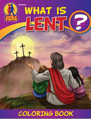 What Is Lent? Coloring Book coloring book, lent, easter, seasonal, activity book, group activity, kids book, kid activity,WIF-LENT