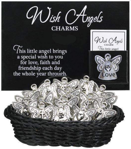Assorted Wish Angel Charms christmas prayer, prayer angel, angel charm, christmas gift, christmas charm, antique finish, prayer card, ER13521