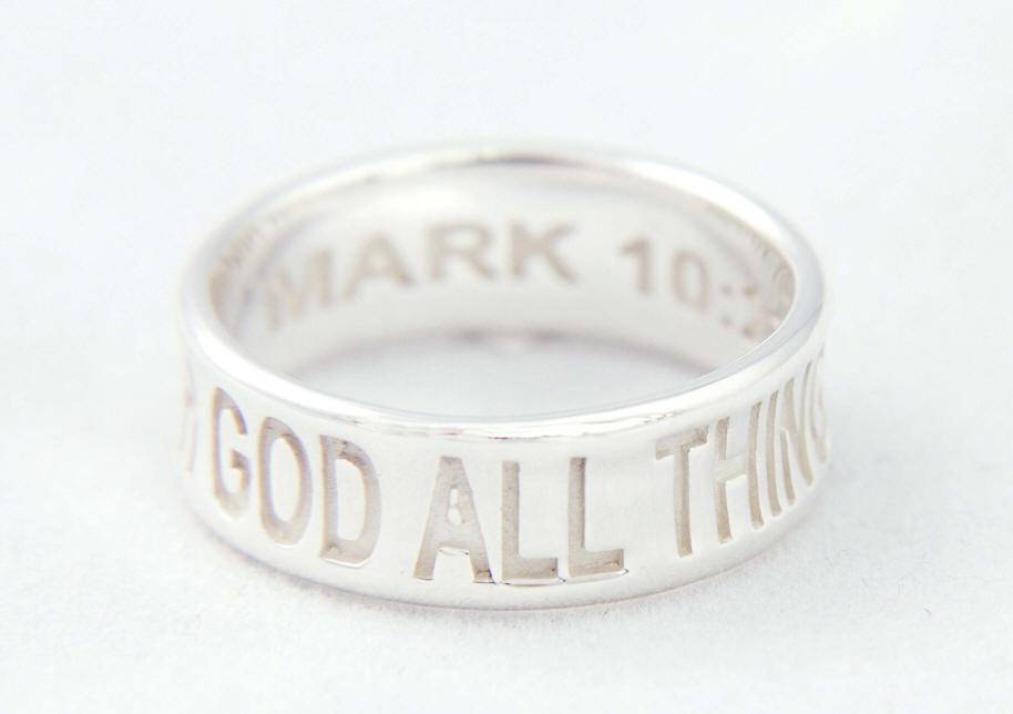 %27With God All Things Are Possilbe%27 Ring*WHILE SUPPLIES LAST* sterling silver ring, silver ring, trendy ring, corintheians, 04420, 04421, 04422, 04423, 04424, jewelry,