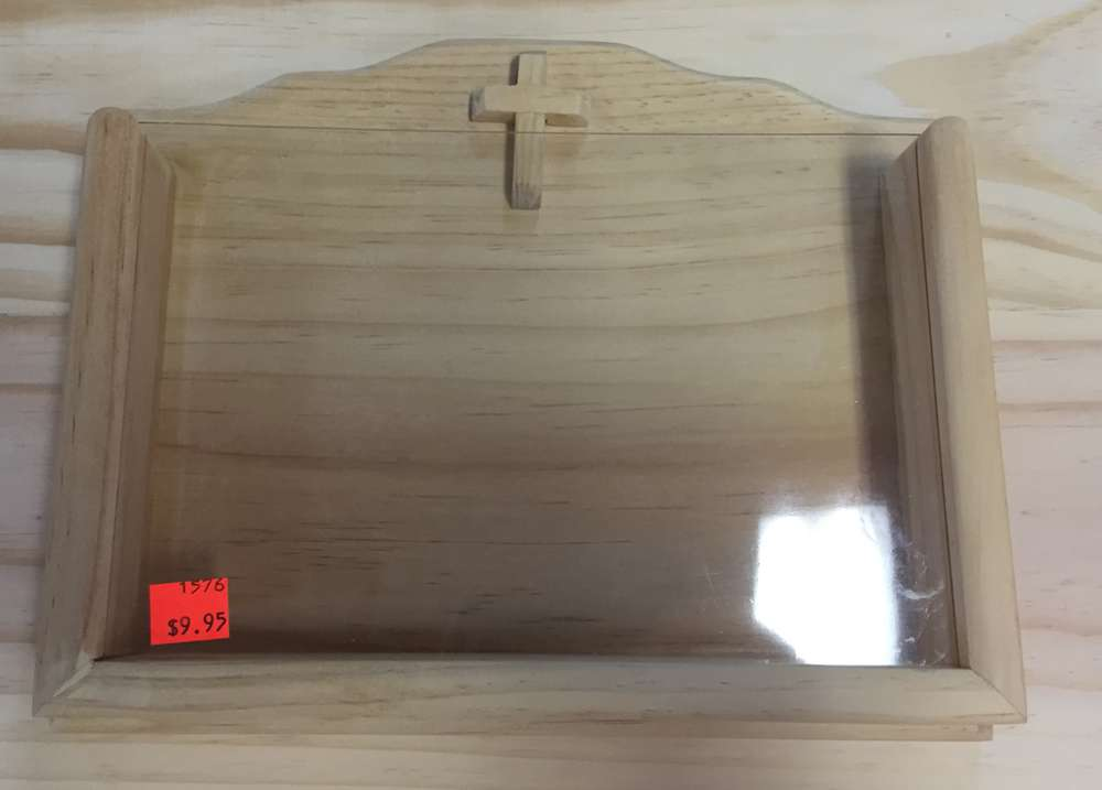 Wooden Book Holder with Transparent Front