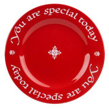You Are Special Today Plate special plate, gift plate, red plate, special day plate, graduation gift, girl gift, special occasion gift, decorative plate,