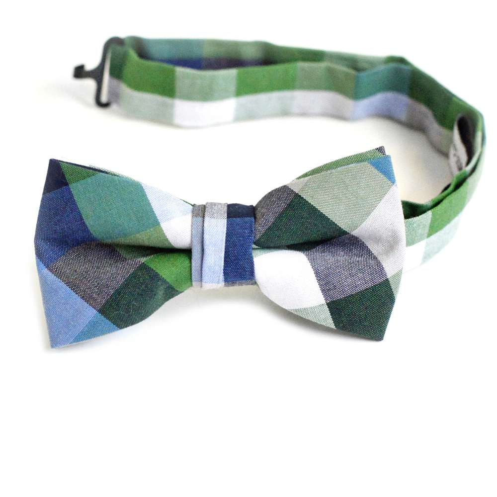 Blue, Green, Grey, White Check Bow Tie bow tie, bowtie, boys tie, first communion tie, boys first commuion apparel, first communion apparel, boys communion tie, boys tie, boy%27s tie, boys plaid tie, plaid tie, neckties