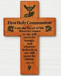 First Communion Wood Cross first communion cross, wood cross, wall cross, sacramental cross, first commmunion gift, holy communion gift, CXG1156HC