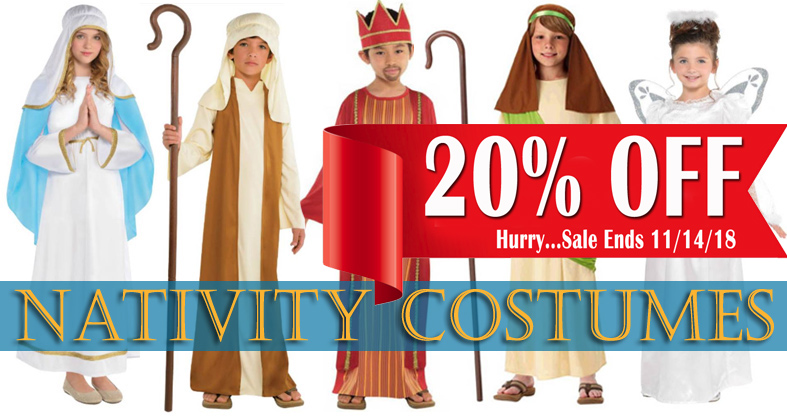 nativity and saint costumes