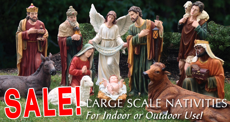 large scale and outdoor nativity scenes