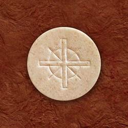 "1 1/2"" Whole Wheat Host-Cross Design"