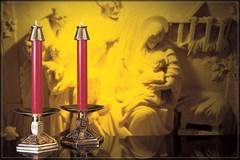 1 1/2 X 12 51% Beeswax Red Altar Candle