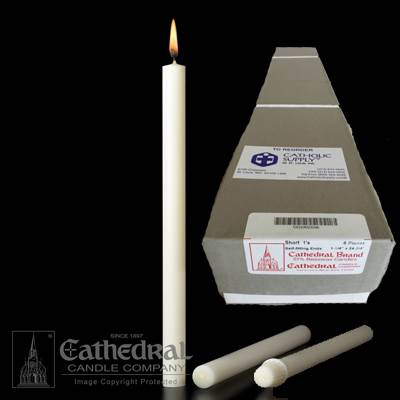 "1-1/4"" x 24 3/4"" Beeswax Altar Candles"