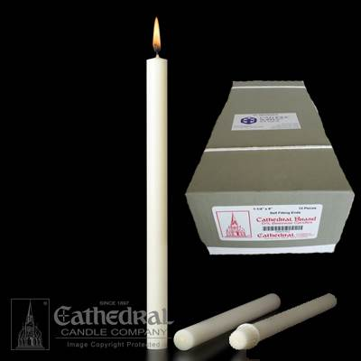 "1-1/4"" x 9"" Beeswax Altar Candles"
