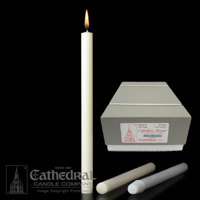 "1-1/8"" x 10-1/2"" Beeswax Altar Candles"