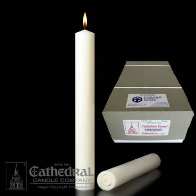 "1-15/16"" x 12"" Beeswax Altar Candles APE"