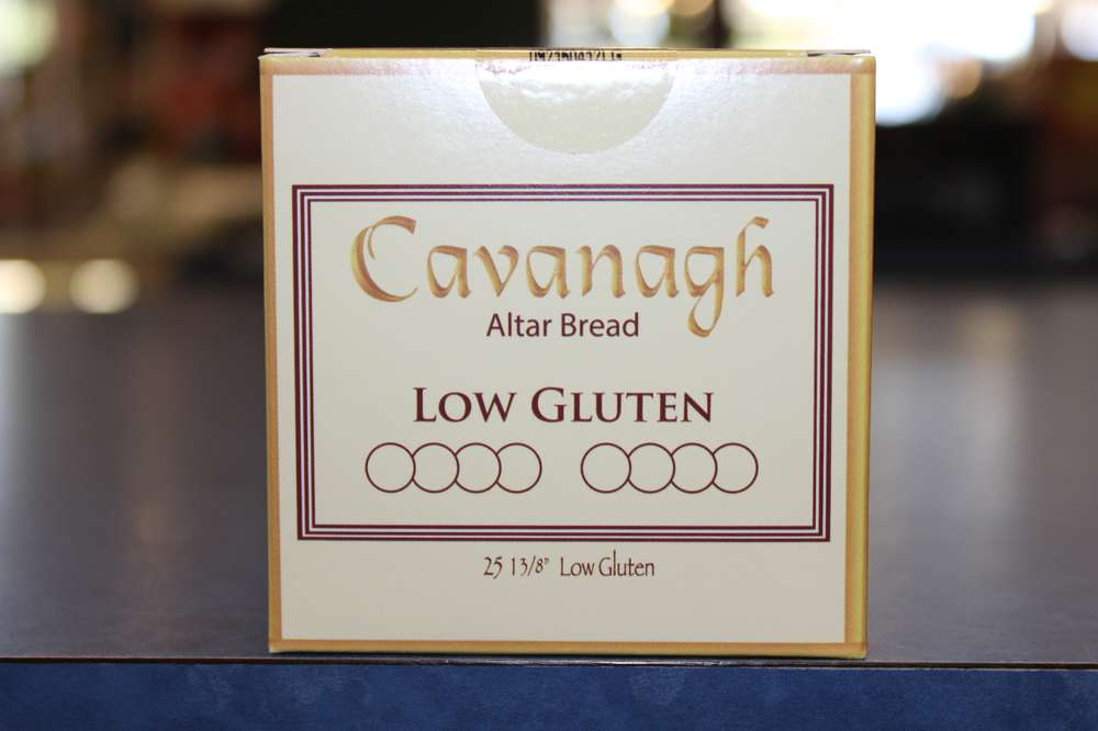 "1 3/8"" Low Gluten Host 25 Per Box  host, church hosts, church breads, altar breads, hosts for church, communion wafers, church wafers, first holy communion wafers, cavanaugh communion low gluten wafers, cavanaugh wafers, cavanaugh hosts, altar bread, altar wafers, catholic church hosts"