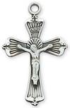 "1"" Silver Crucifix On 18"" Stainless Chain  *WHILE SUPPLIES LAST*"