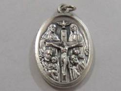 "1"" Four Way Oxidized Medal Patron saint, medals, oxidized medal,1"" medal, medal only, sacramental gift, special occasion gift,14408"