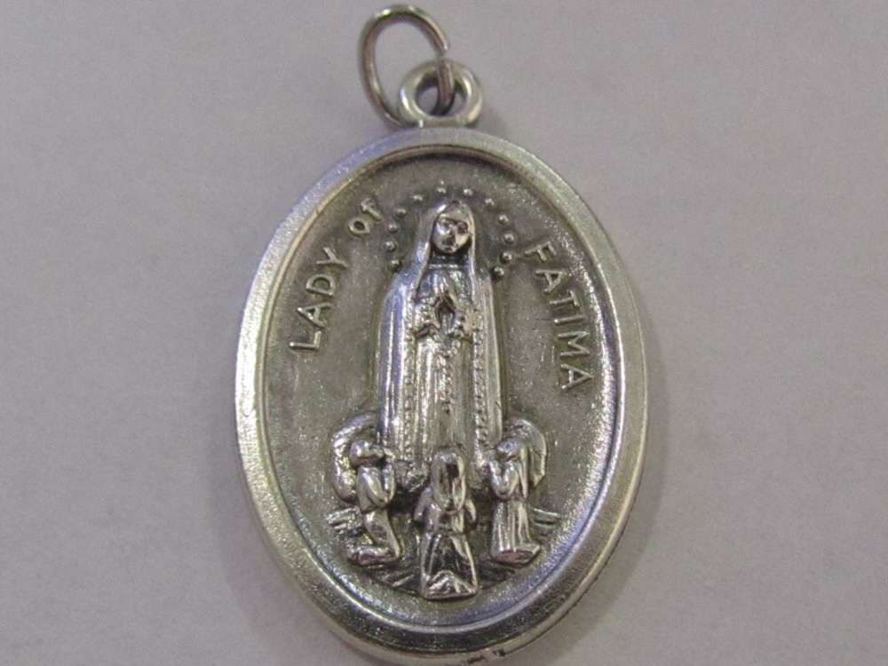 "1"" Our Lady of Fatima Oxidized Medal our lady of fatima, fatima, Patron saint, medals, oxidized medal,1"" medal, medal only, sacramental gift, special occasion gift,14426"