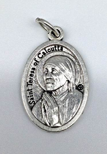 "1"" Saint Teresa of Calcutta Medal mother teresa, MT,Patron saint, medals, oxidized medal,1"" medal, medal only, sacramental gift, special occasion gift,23599, saint mother teresa"