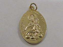 "1"" Scapular Gold Colored Medal Patron saint, medals, oxidized medal,1"" medal, medal only, sacramental gift, special occasion gift,14815"