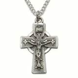 "1"" Sterling Silver Celtic Crucifix on 18"" Chain"