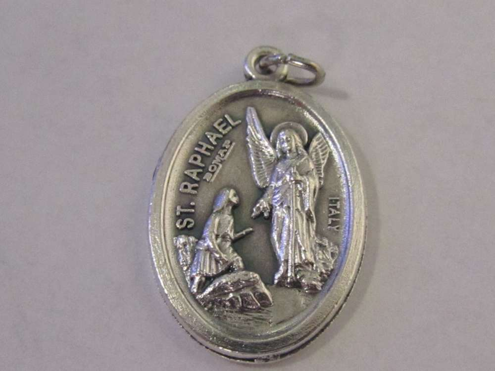 "1"" St. Raphael Oxidized Medal Patron saint, medals, oxidized medal,1"" medal, medal only, sacramental gift, special occasion gift,14435"