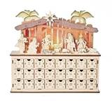 "10.75"" LED LIGHTED NATIVITY ADVENT CALENDAR"