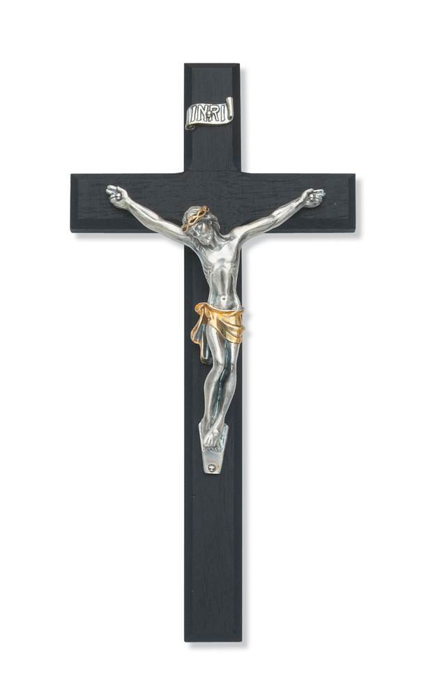 "10"" Black Crucifix W/ Two Tone Corpus"