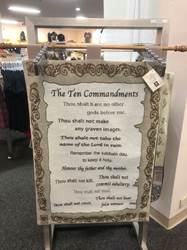 10 Commandments Wall Tapestry with Rod 26X36