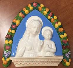 "10"" Madonna and Child Della Robbia Wall Hanging *WHILE SUPPLIES LAST*"