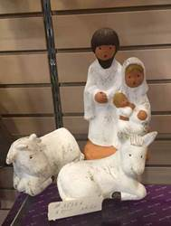 "10"" Nativity Set, Hand Made In Spain, 3pc Set"