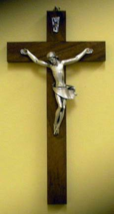 "10"" Walnut Crucifix wall crucifix, wall cross, wedding gift, first communion gift, confirmation gift, sacramental gift, new home gift, church cross, school cross"