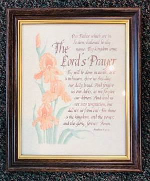 "10"" x 12.5"" Lord's Prayer Framed Picture"