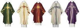102-0528 Seta Chasuble with Cowl ** Europa ** chasuble, church goods, textiles, church apparal,