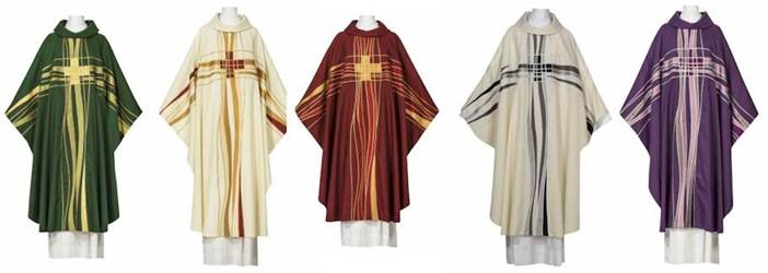 102-0528 Seta Chasuble with Cowl ** Europa **