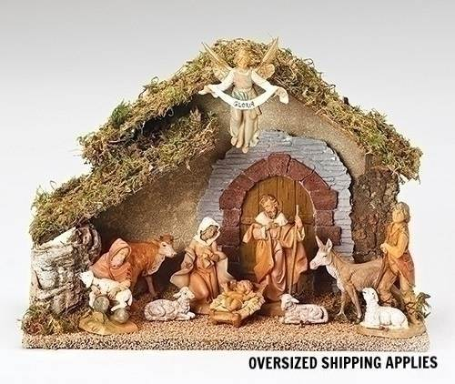 Fontanini 10 Piece Nativity Set with Stable