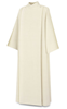 11-20 Front Wrap Alb in White Livorno Fabric Alb, vestment, slabbinck, Belgium, Albs, front wrap, coat style, 11-20, 11/20, wool, Livorno, priest garment