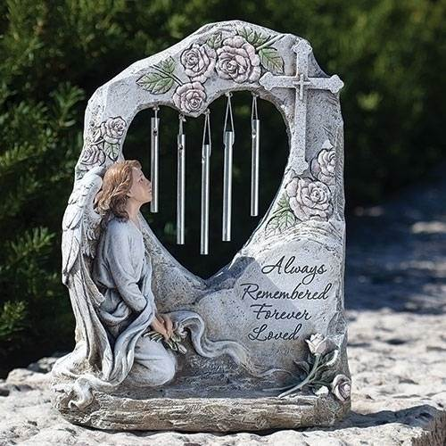 "11.25"" Memorial Angel with Chimes"
