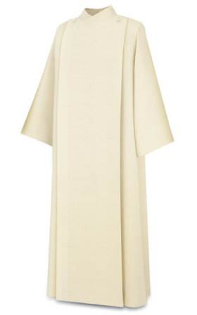 11-67 Front Wrap Alb in Beige Vaticano Fabric