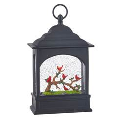 "11"" Cardinals on Branch Water Lantern"