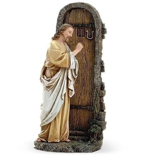 "11"" Jesus Knocking At Door Statue"