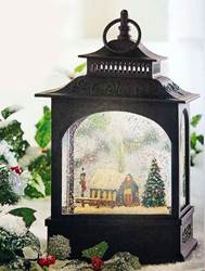 11 inch lighted church water lantern christmas